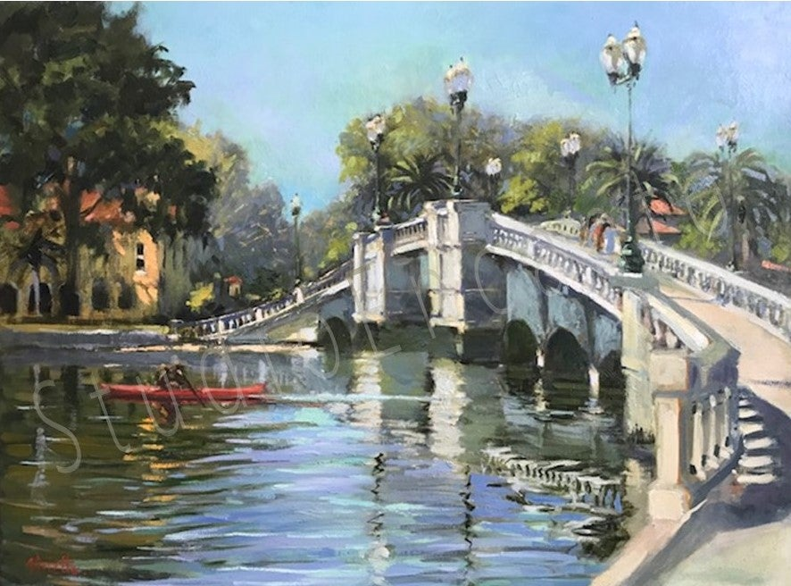 Image of Promenade over the bridge, St. Petersburg by Violetta Chandler