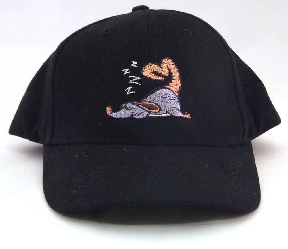 Sleeping Mouse Embroidered Hat