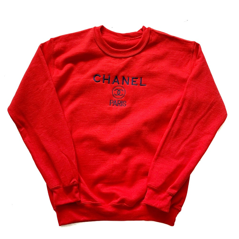 Image of CC Sweatshirt Red/Navy