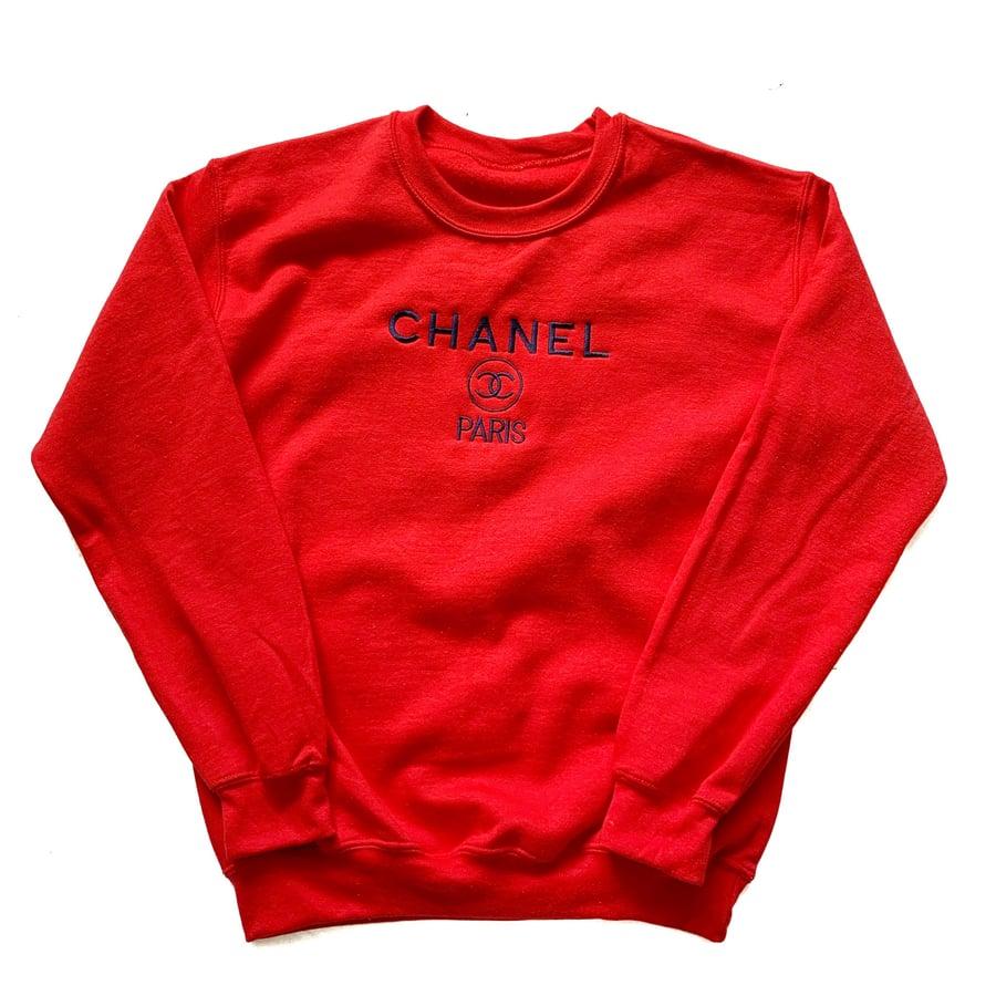 Image of CC Sweatshirt Red/Navy
