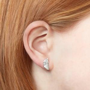 Image of Half Moon Post Earrings