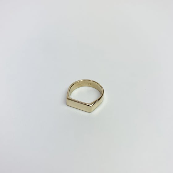 Image of Thin Signet Ring