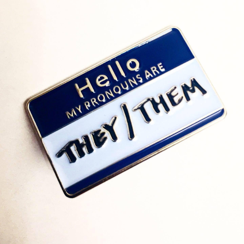 Image of They/Them Pronoun Pin
