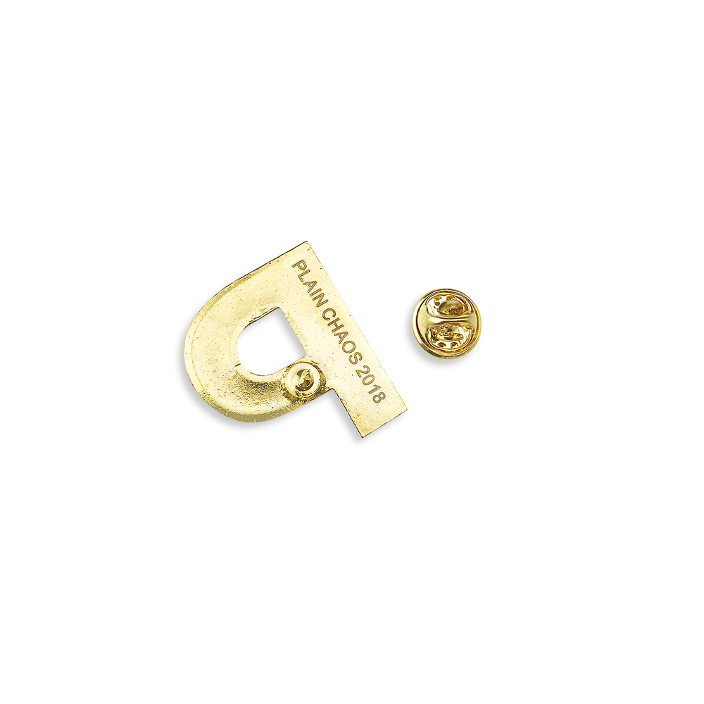 Image of Gold 'P' Lapel Pin