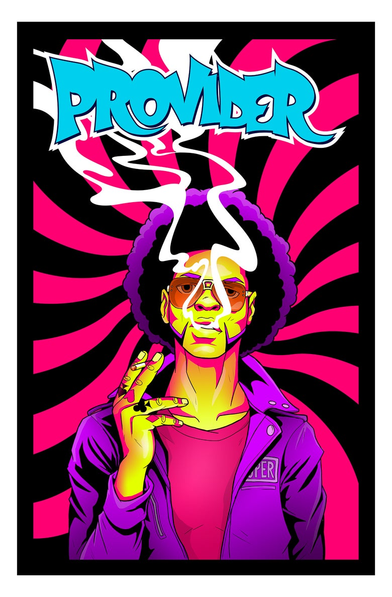 """Image of """"Provider"""" Blacklight Poster 23x35 inch"""