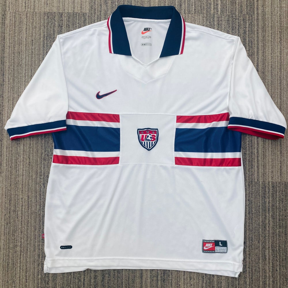 Image of Vintage USA Soccer 1990s Nike Jersey