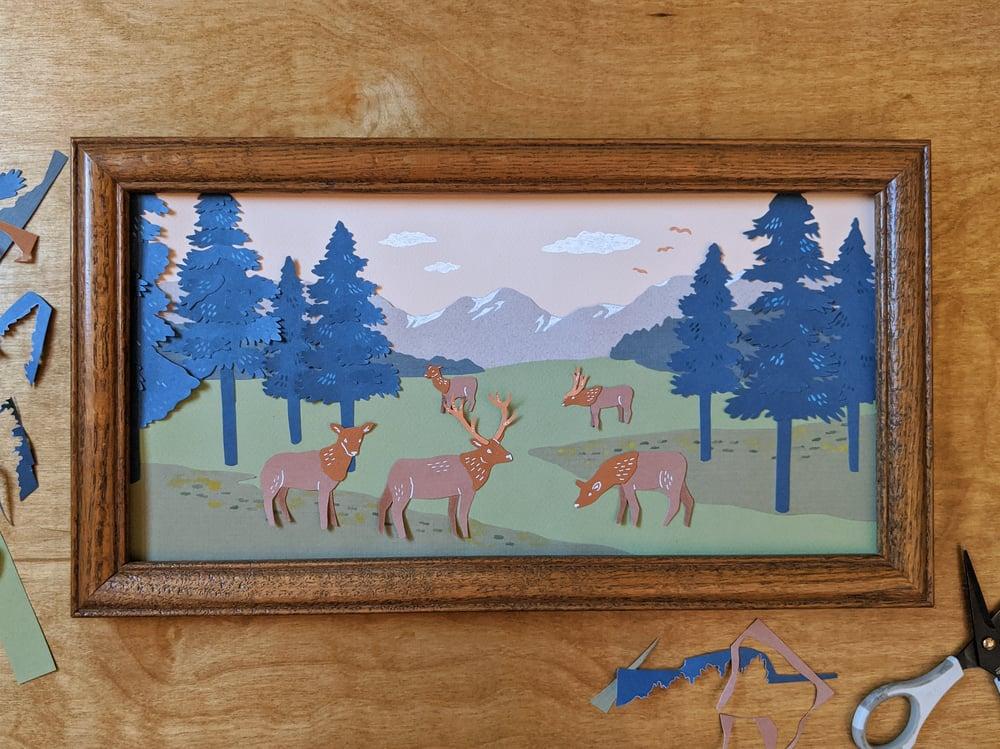 Image of Elk Mountains - Cut Paper