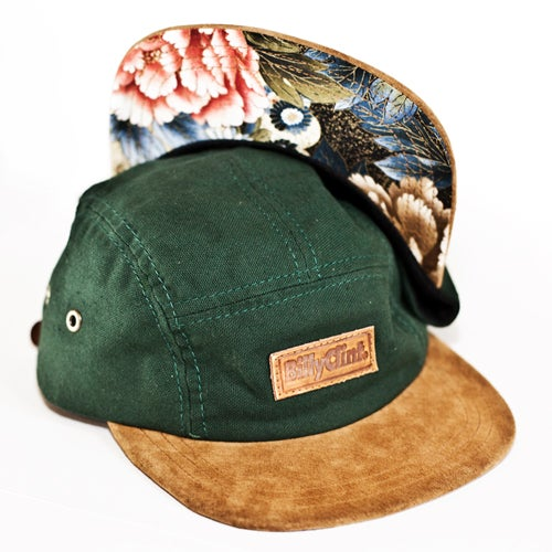Image of Billy Clint 5-Panel Hat (Green/Floral)