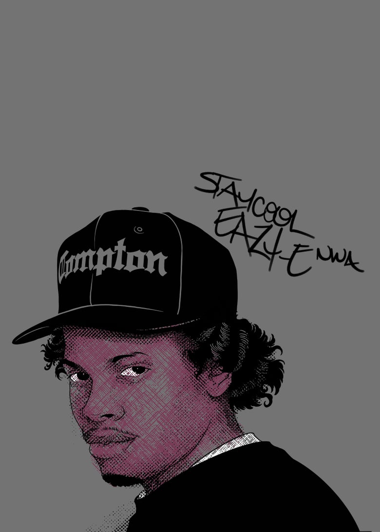 "Image of ""Sammie's Wall of Fame: Eazy"" 5x7 inch Print"