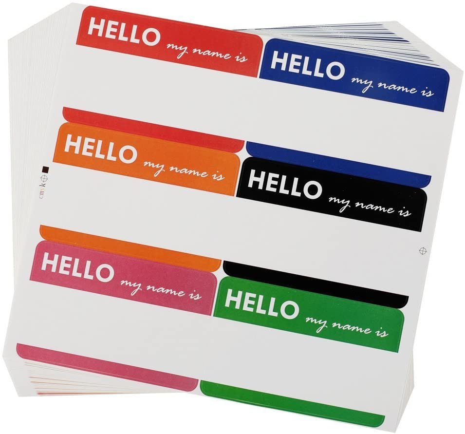"""Image of """"Hello My Name Is"""" Blanks"""