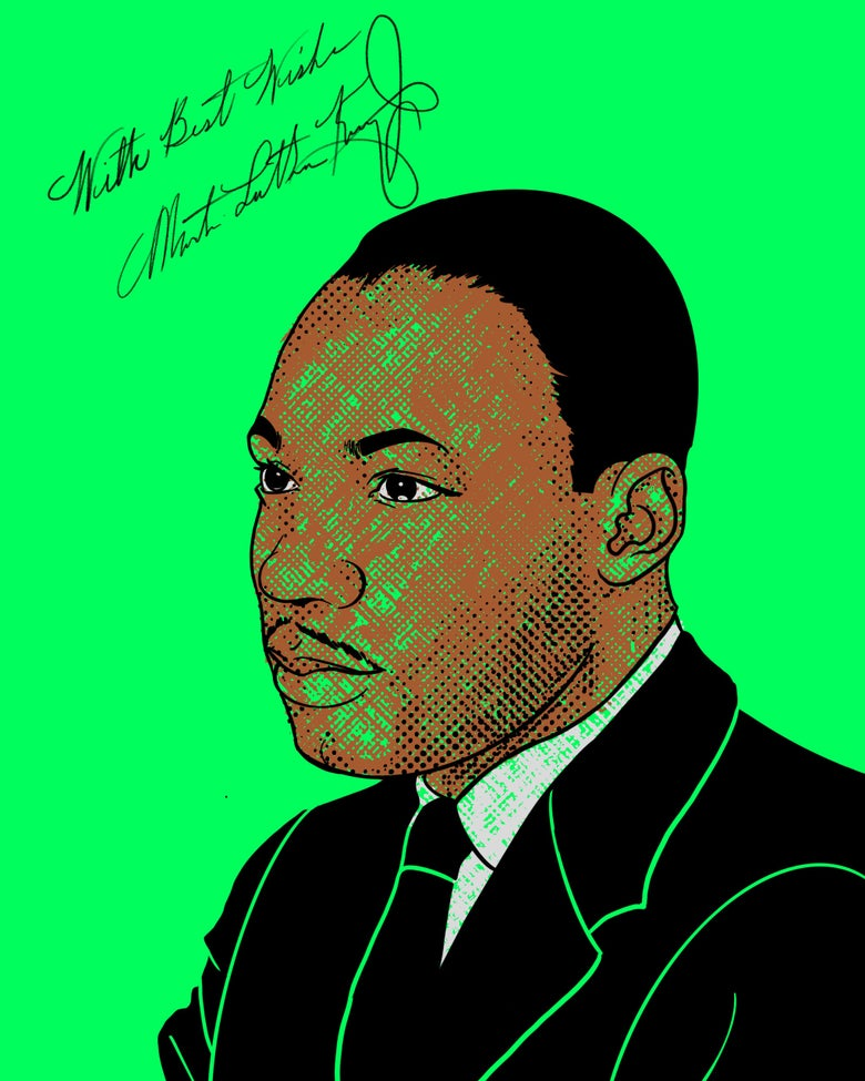 """Image of """"Sammie's Wall of Fame: MLK"""" 8x10 inch Print"""
