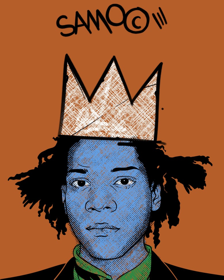 """Image of """"Sammie's Wall of Fame: Basquiat"""" 8x10 inch Print"""