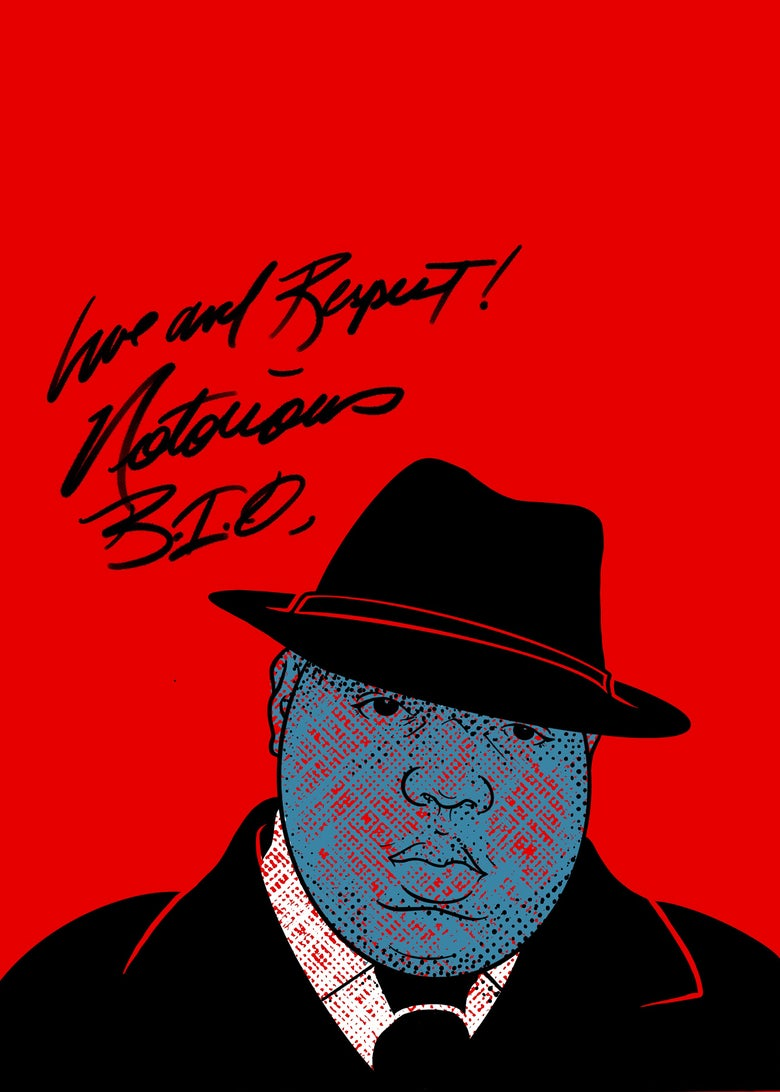 "Image of ""Sammie's Wall of Fame: Biggie"" 5x7 inch Print"