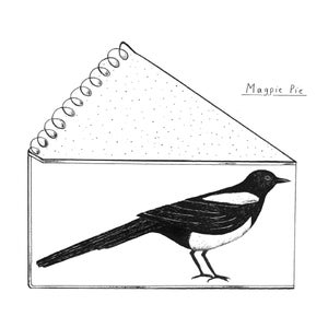 Image of Magpie screenprint