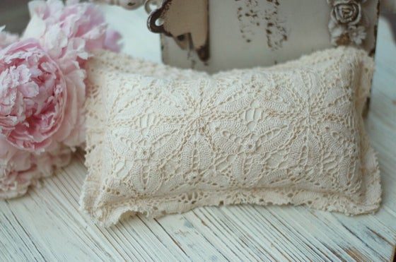 Image of Vintage crochet pillow