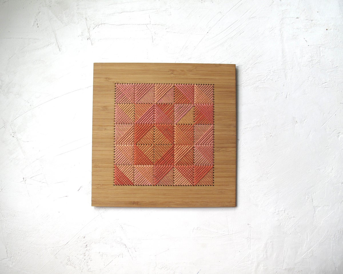 Small Square Crosshatch no.5 Wall Art