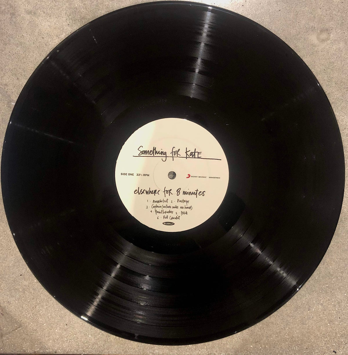 Image of Something for Kate 'Elsewhere for 8 Minutes' LP vinyl reissue