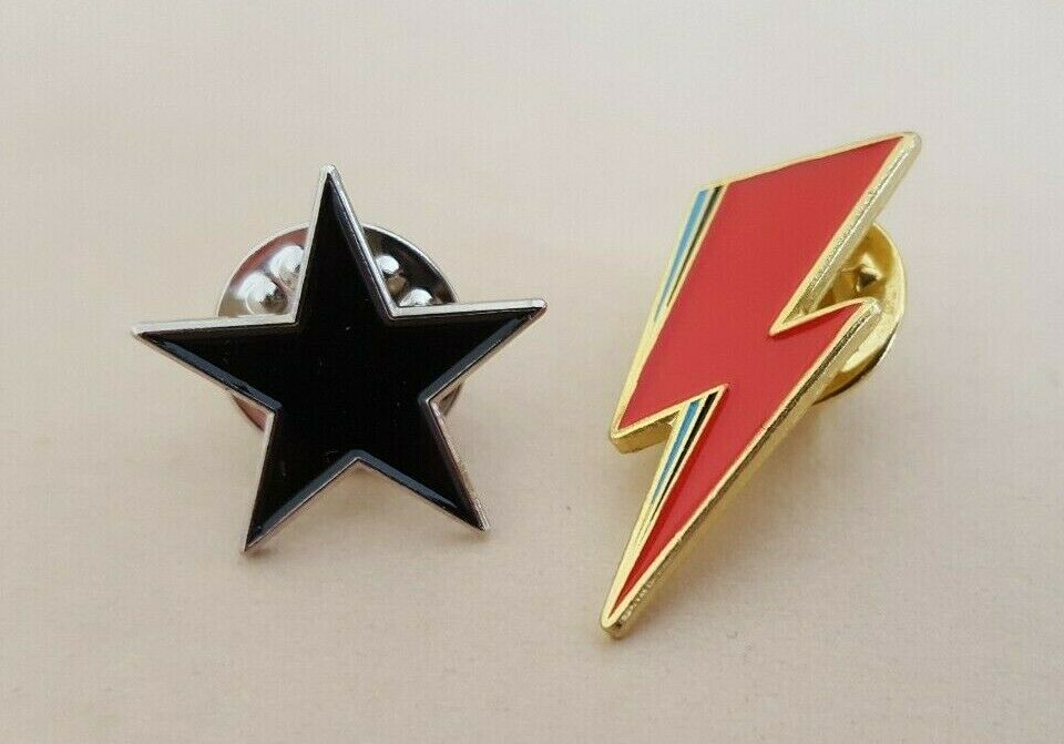 Blackstar and Lightning Bolt Badge Set