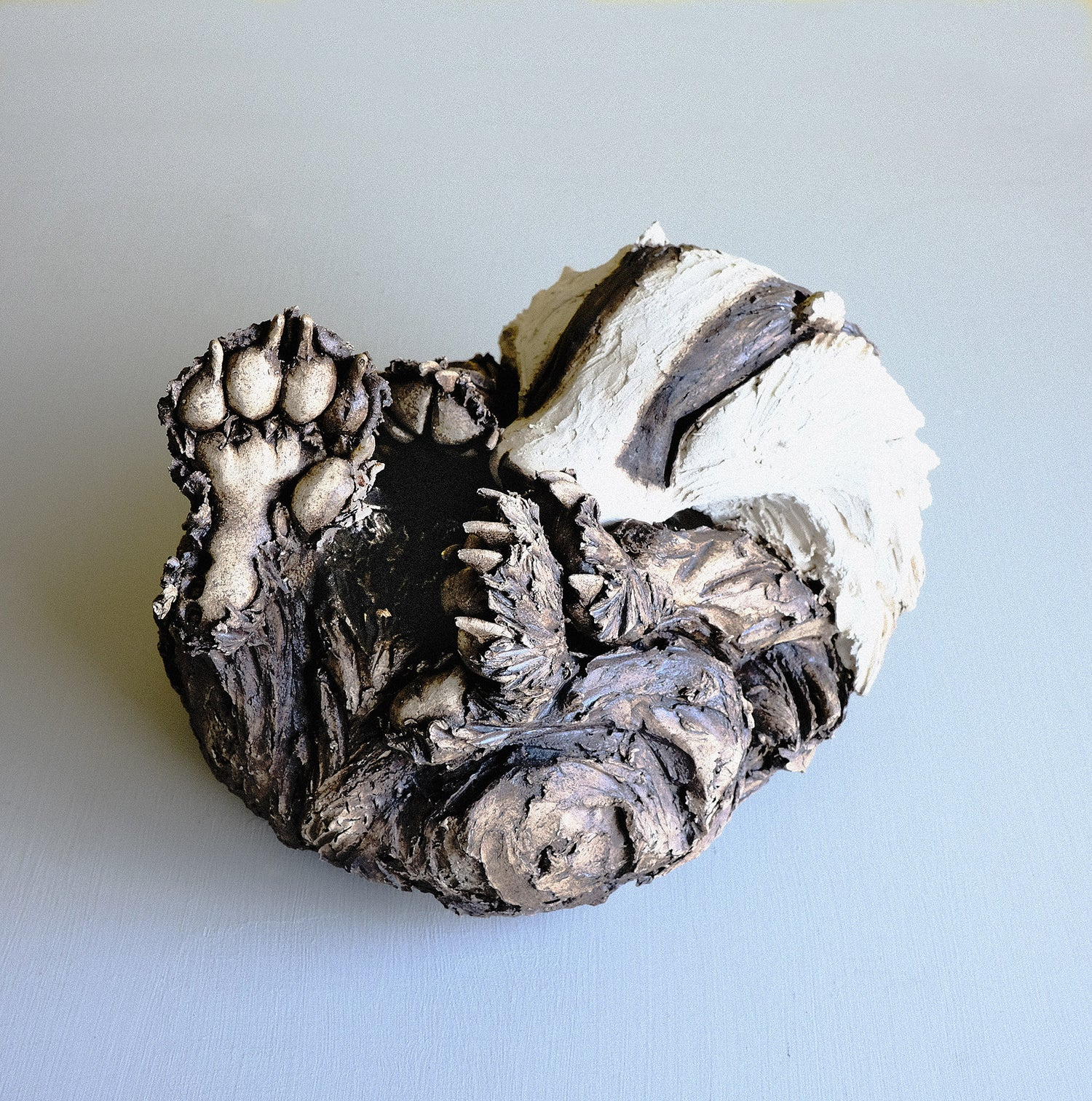 Image of Felicity Lloyd Coombs - Sleeping Badger Ceramic Sculpture