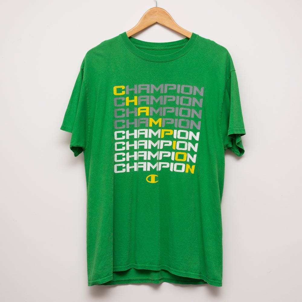 Image of Champion Tee Green Size L