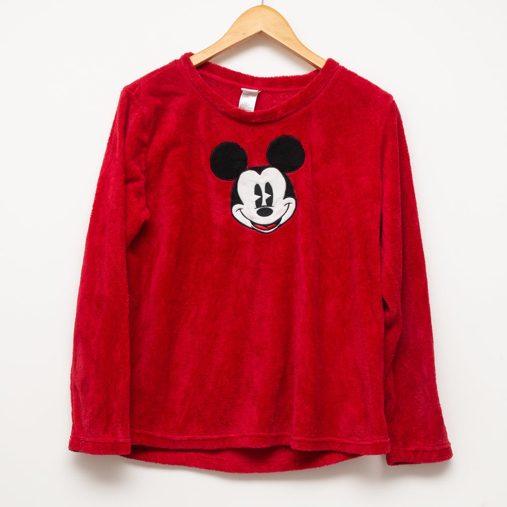 Image of Disney Fleece Crewneck Red