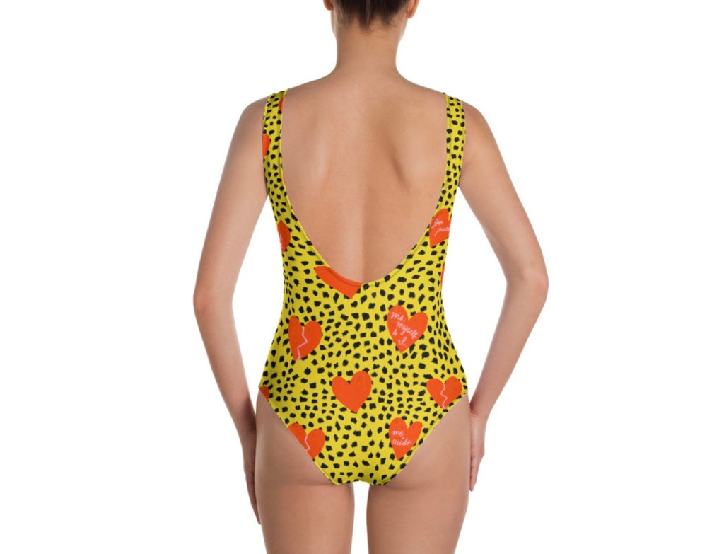 Image of Self Love Print Onepiece Swimsuit