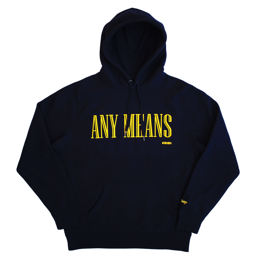 Image of Gap Hoodie in Navy & Yellow
