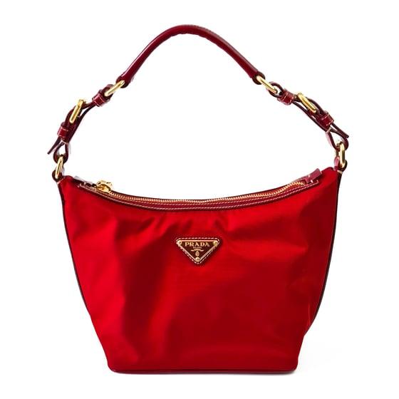 Image of Prada Red Tessuto Shoulder Bag BR3121