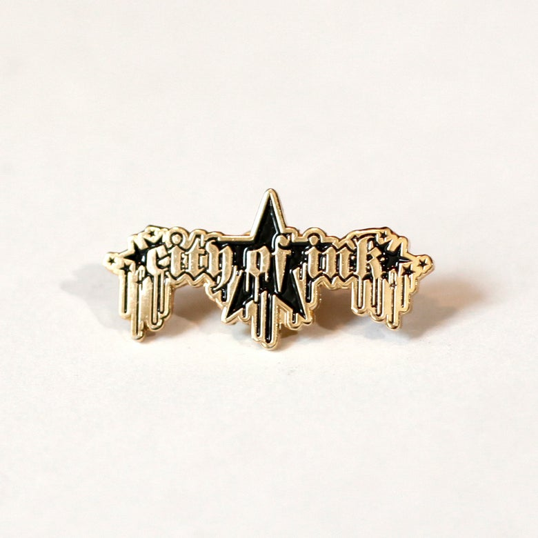 Image of City of Ink Gold Pin
