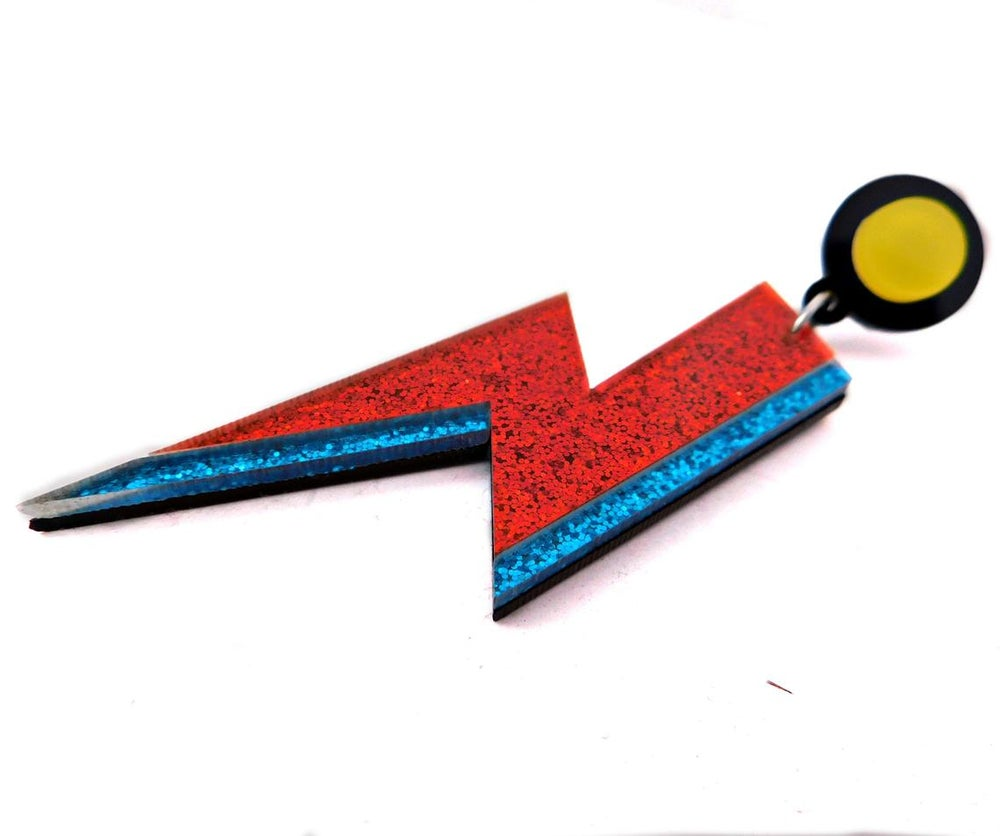 Aladdin Sane Lightning Bolt (Glam Rock Earrings)