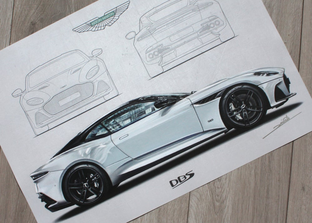 Image of Aston Martin DBS Superleggera Poster Print