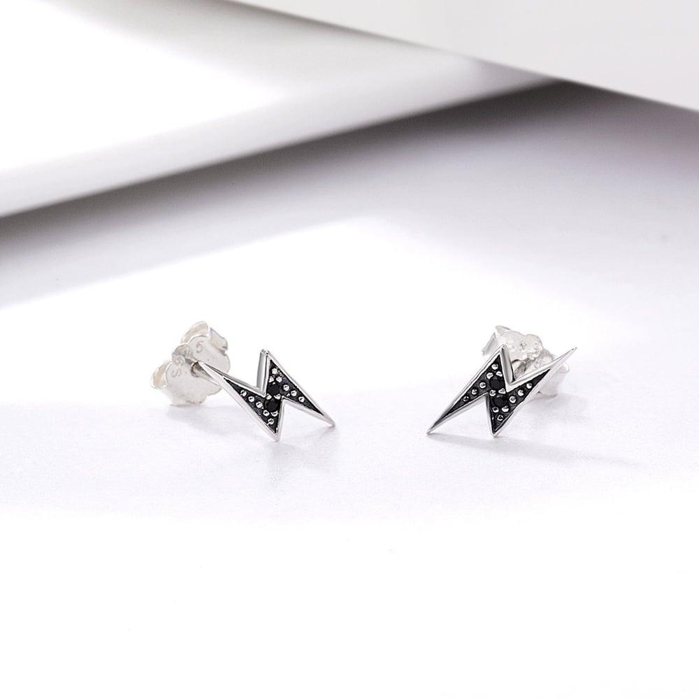 Lightning Bolt Earrings (925 Silver)