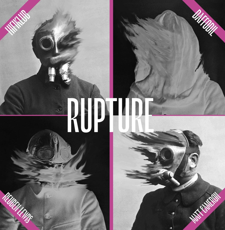 Image of Hifiklub + Matt Cameron + Daffodil + Reuben Lewis - Rupture black vinyl