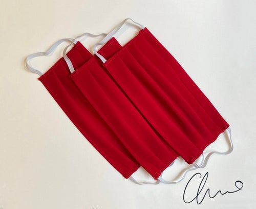 Image of Pleated Mask 3 Pack - Red