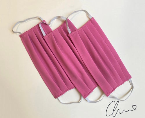 Image of Pleated Mask 3 Pack - Pink