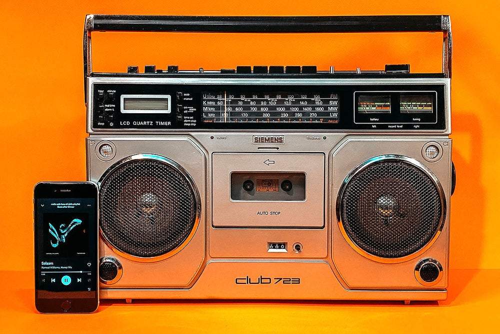 Image of SIEMENS CLUB 723 (1990) BOOMBOX BLUETOOTH