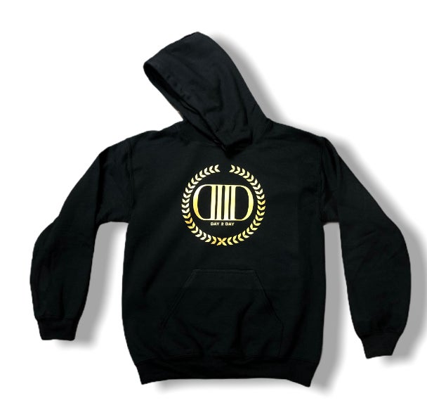 Black/Gold Crown Logo Hoodie