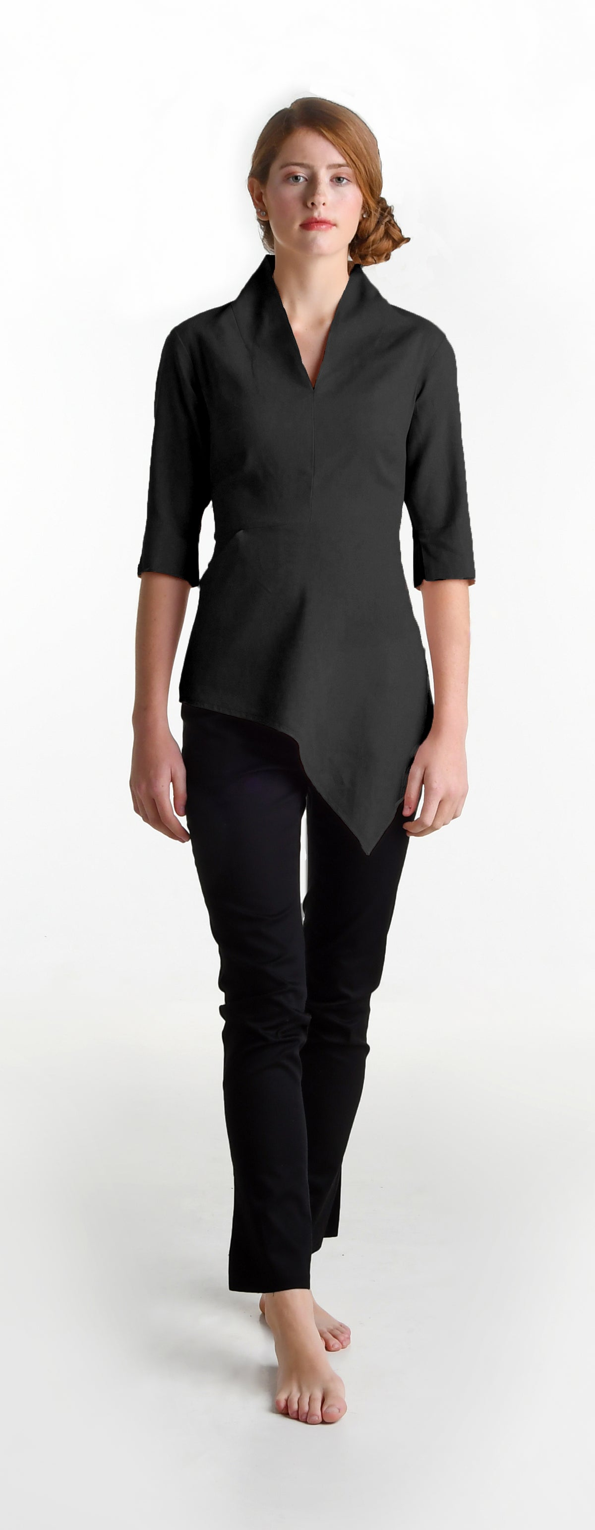 Image of Elmira Cromwell top in black