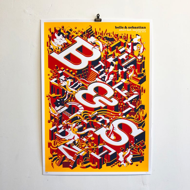 Image of Belle & Sebastian Screenprint: MANCHESTER 03.07.19