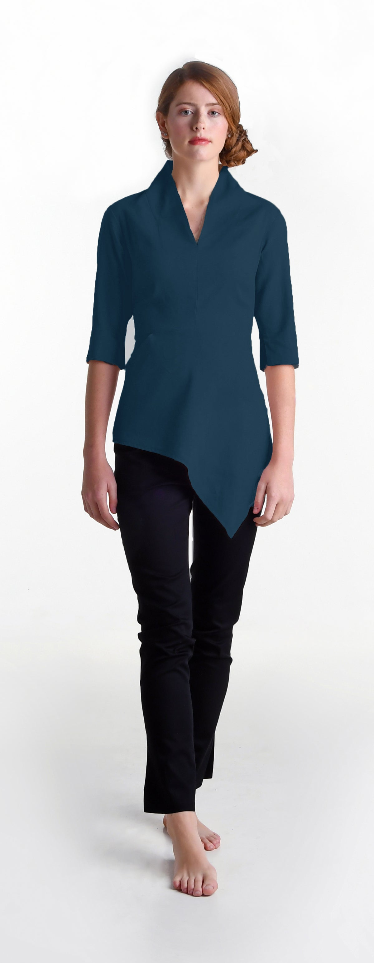 Image of Elmira Cromwell top in teal