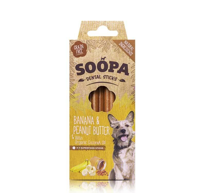 Image of SOOPA banana & peanut butter dental sticks