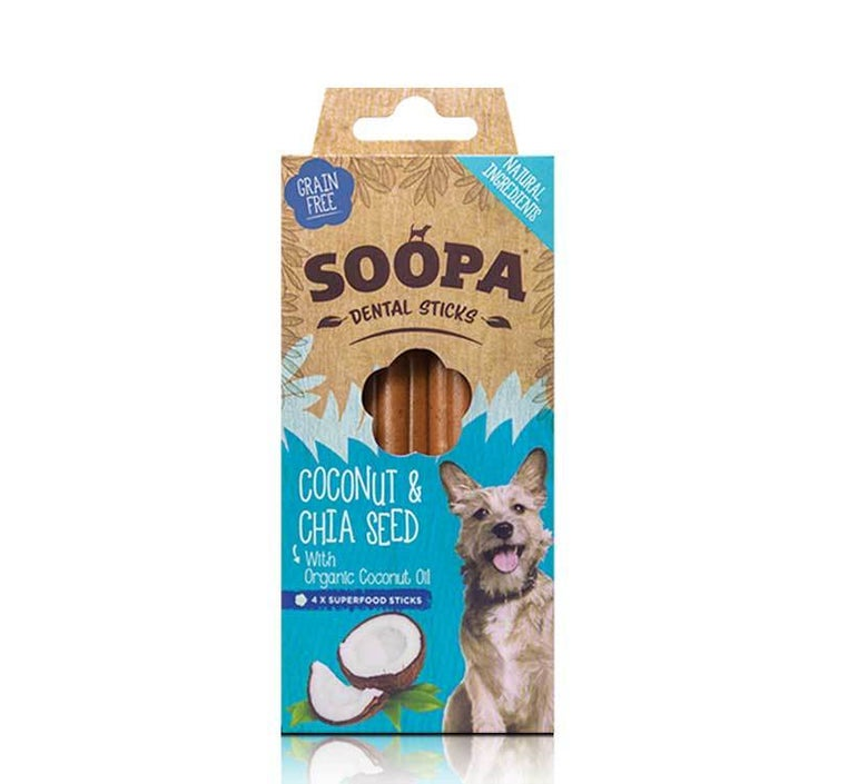 Image of SOOPA coconut & chia seed dental sticks