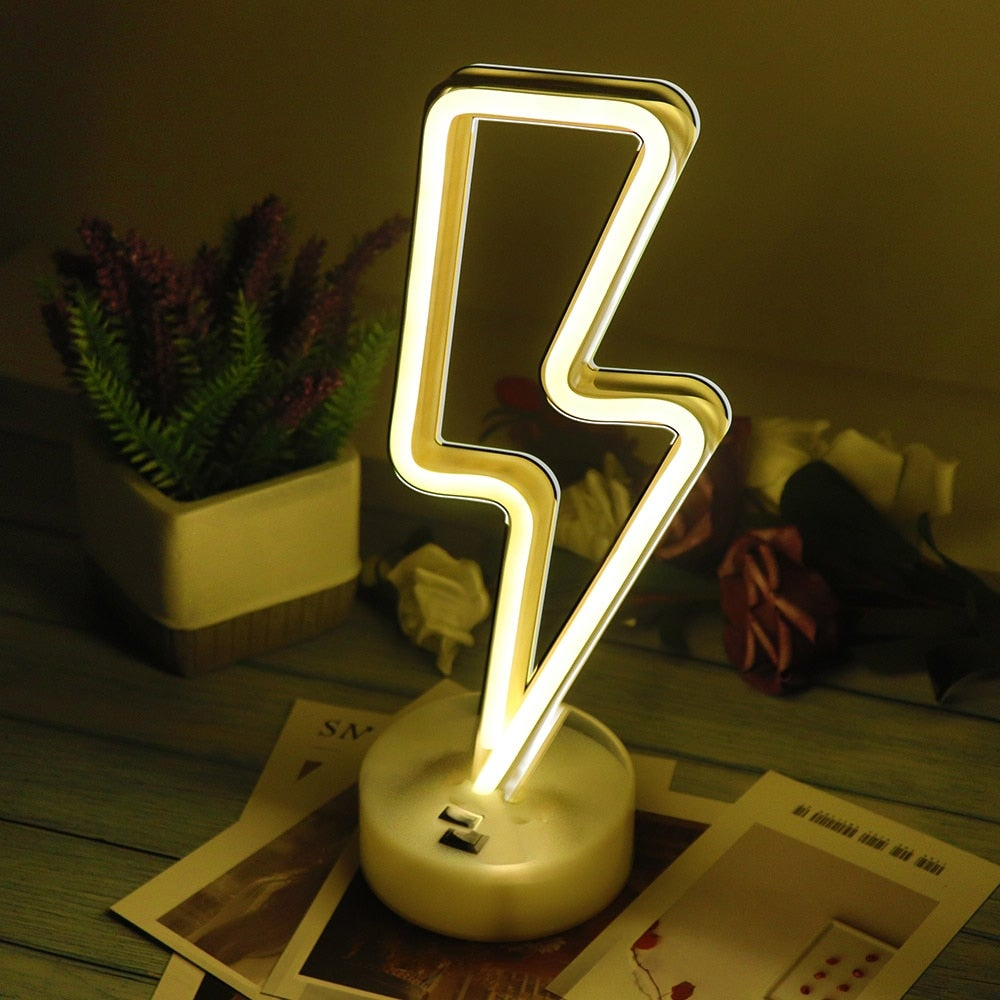 LED Light Lightning Bolt Design