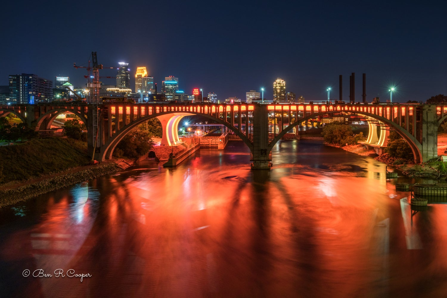 Minneapolis 35W bridge in Orange
