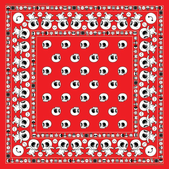 Image of Skully Bandana - red