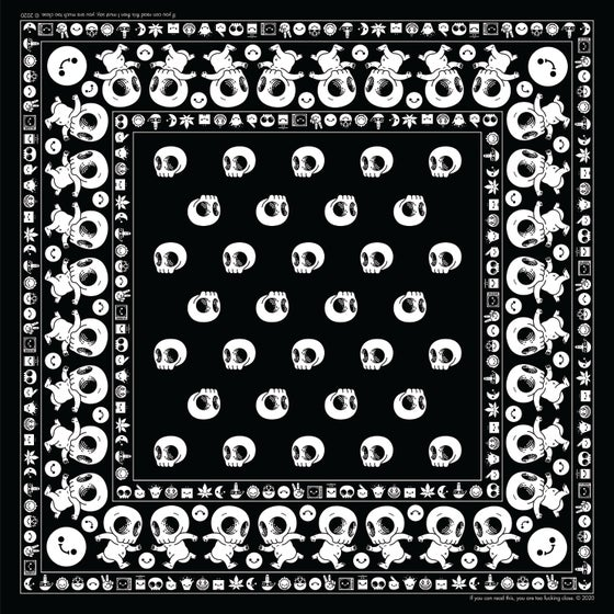 Image of Skully Bandana - black