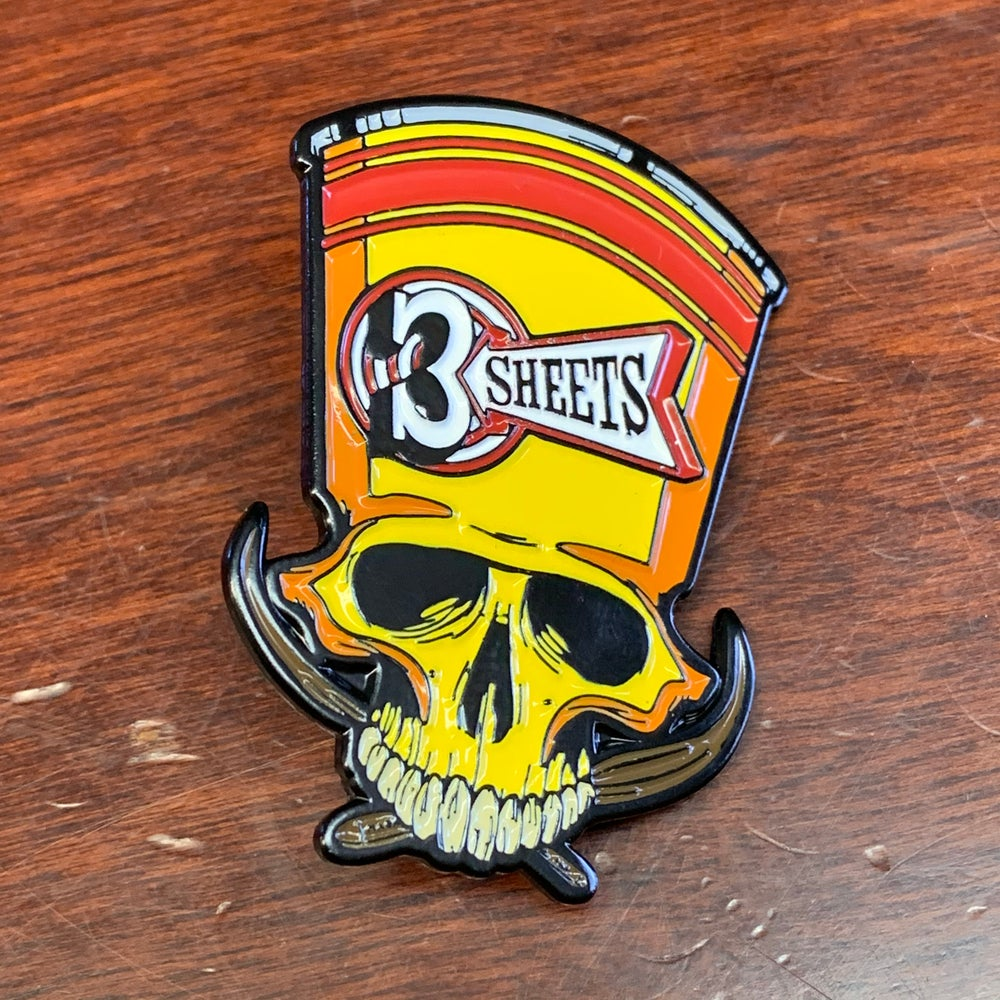 3S 1-Shot Skull Soft Enamel Pin