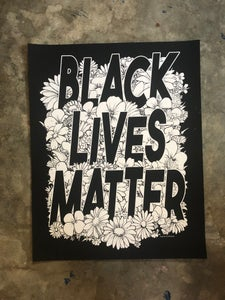 Image of Black Lives Matter (flower poster)
