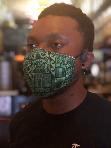 Image of TS Tapa Green Face Mask (Non Medical)