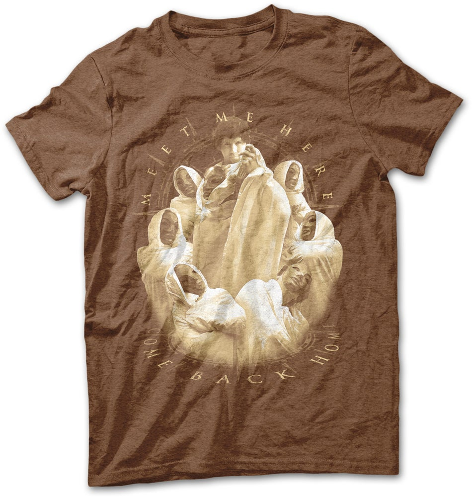 "Image of ""Unmasking"" T-Shirt - Heather Brown"